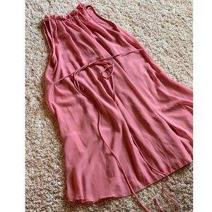 MAUVE CHIFFON HIGH NECK PINKBLUSH MATERNITY DRESS